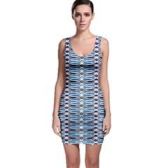 Blue batik Bodycon Dress