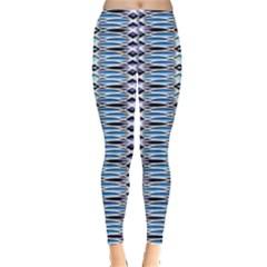 Blue batik Leggings