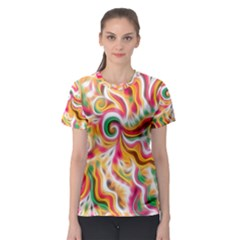 Sunshine Swirls Women s Sport Mesh Tee