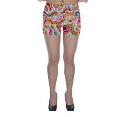 Sunshine Swirls Skinny Shorts