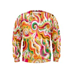 Sunshine Swirls Kid s Sweatshirt