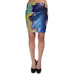 Space Bubbles Bodycon Skirt