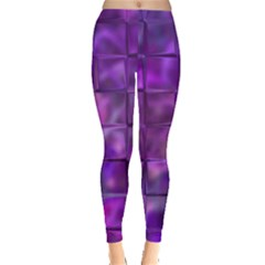 Purple Squares Leggings