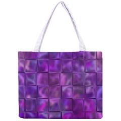 Purple Squares Tiny Tote Bag