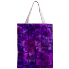 Purple Squares Classic Tote Bag