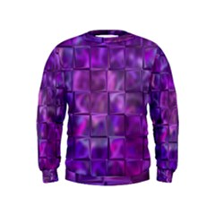 Purple Squares Kid s Sweatshirt