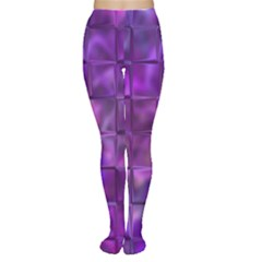 Purple Squares Tights