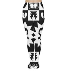 Goth Punk Skull Checkers Tights