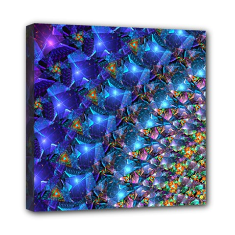 Blue Sunrise Fractal Mini Canvas 8  X 8  (stretched)