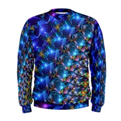 Blue Sunrise Fractal Men s Sweatshirt