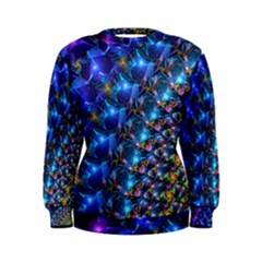 Blue Sunrise Fractal Women s Sweatshirt