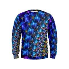 Blue Sunrise Fractal Kid s Sweatshirt