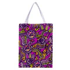 Purple Tribal Abstract Fish Classic Tote Bag