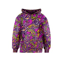Purple Tribal Abstract Fish Kid s Pullover Hoodie