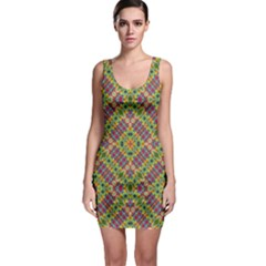 Multicolor Geometric Ethnic  Bodycon Dress