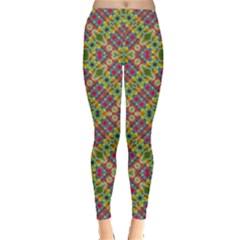 Multicolor Geometric Ethnic  Leggings