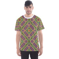 Multicolor Geometric Ethnic  Men s Sport Mesh Tee