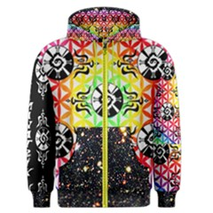 Shamanatrix Galactic Flower * Men s Zip Up Hoodie