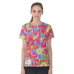Hippy Peace Swirls Women s Cotton Tee