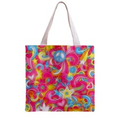 Hippy Peace Swirls Grocery Tote Bag