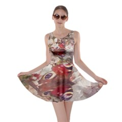 Blossom Butterfly Watercolour Skater Dress