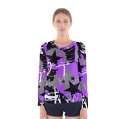 Purple Scene Kid Women s Long Sleeve T-shirt
