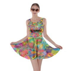 Colorful Autumn Skater Dress