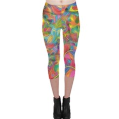 Colorful Autumn Capri Leggings