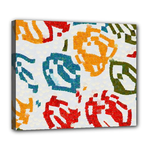 Colorful Paint Stokes Deluxe Canvas 24  X 20  (stretched)