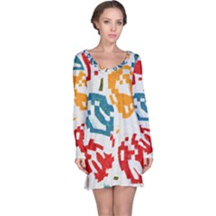 Colorful Paint Stokes Nightdress