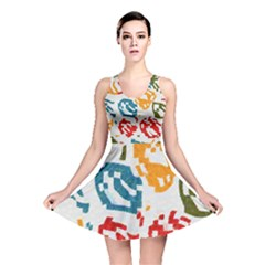 Colorful paint stokes Reversible Skater Dress