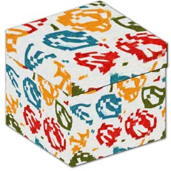 Colorful Paint Stokes Storage Stool