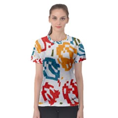 Colorful paint stokes Women s Sport Mesh Tee