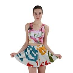 Colorful paint stokes Mini Skirt