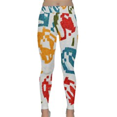Colorful Paint Stokes Yoga Leggings