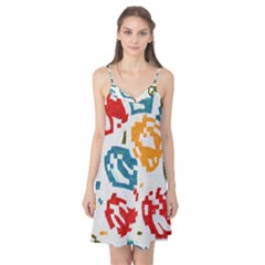 Colorful Paint Stokes Camis Nightgown
