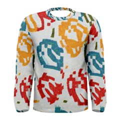 Colorful paint stokes Men Long Sleeve T-shirt