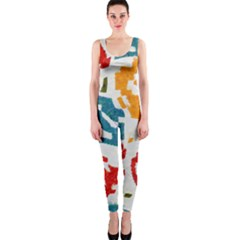Colorful paint stokes OnePiece Catsuit