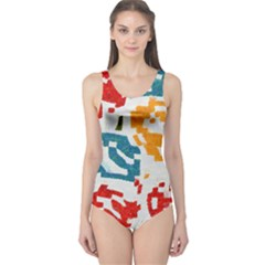 Colorful Paint Stokes Women s One Piece Swimsuit