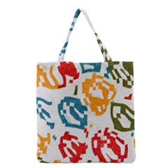 Colorful paint stokes Grocery Tote Bag