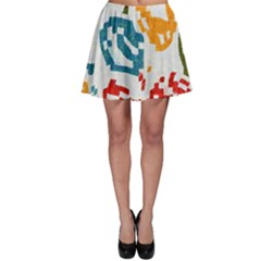 Colorful paint stokesSkater Skirt