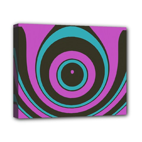 Distorted Concentric Circles Canvas 10  X 8  (stretched)