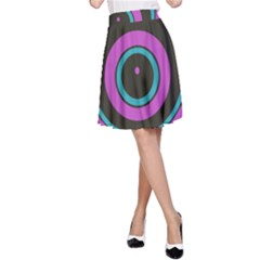Distorted concentric circles A-line Skirt