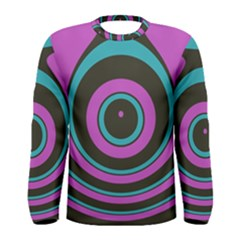 Distorted concentric circles Men Long Sleeve T-shirt