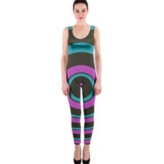 Distorted concentric circles OnePiece Catsuit
