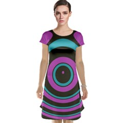 Distorted Concentric Circles Cap Sleeve Nightdress