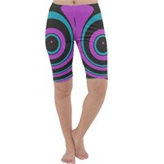 Distorted concentric circles Cropped Leggings