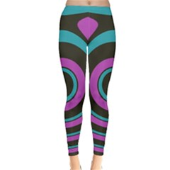 Distorted concentric circles Winter Leggings