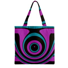 Distorted concentric circles Grocery Tote Bag