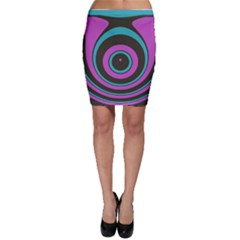 Distorted Concentric Circles Bodycon Skirt